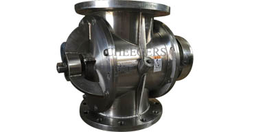 Highly polished rotary airlock valve